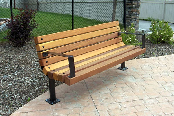 Wooden Park Benches ~ Series b benches custom park leisure