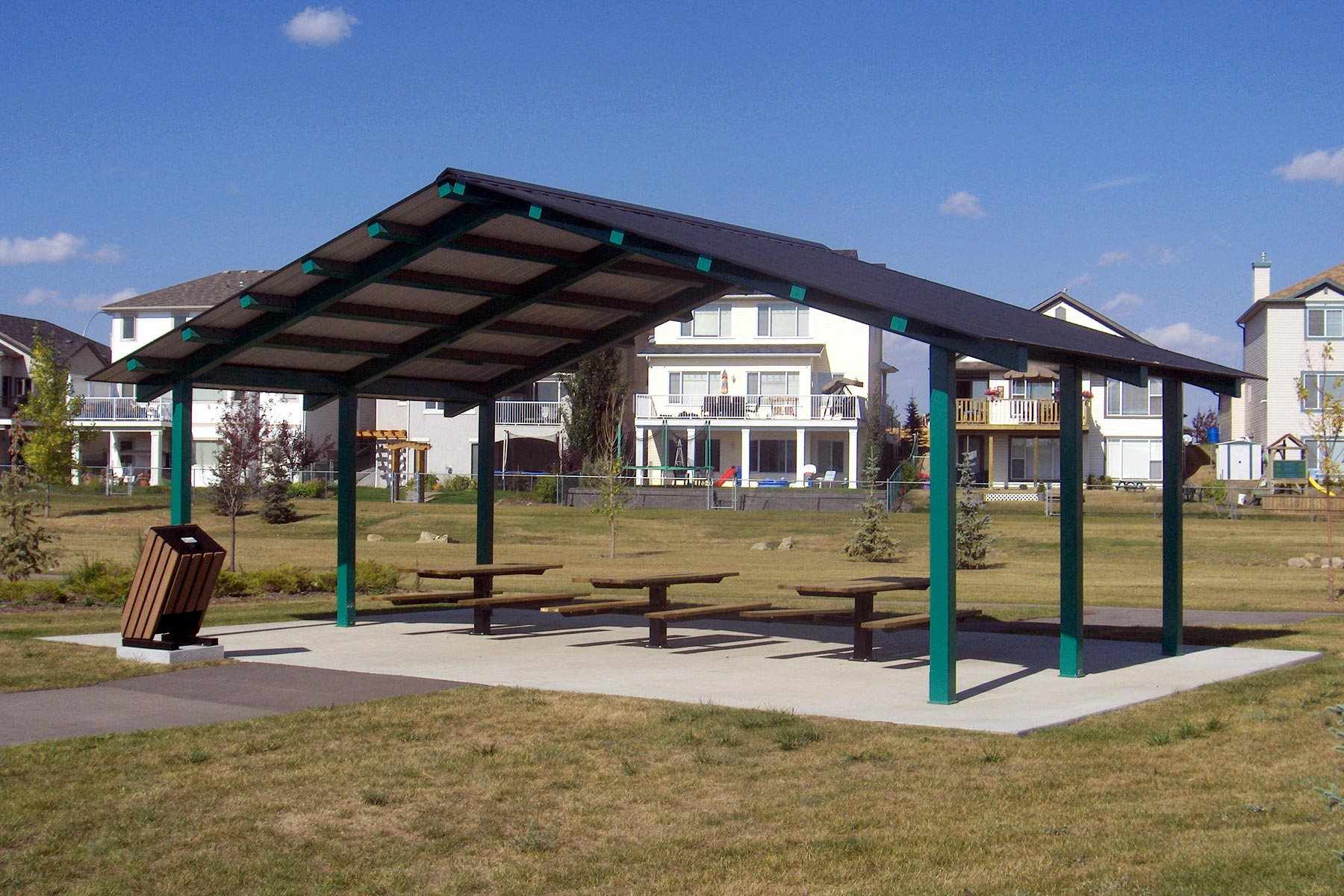 Steel Outdoor Shelters : Steel picnic shelters custom park leisure