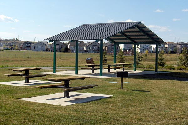 Steel picnic shelters custom park leisure for Rv shelter canada